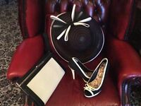Wedding hat .shoes.bag