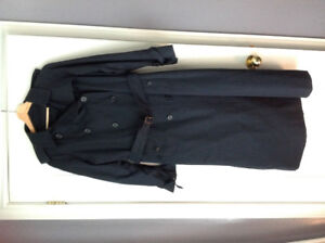 Vintage Burberry Navy Blue trench size 12