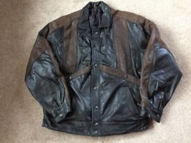 Men's real leather jacket XL