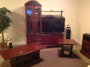 Wall unit and matching tables