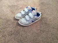 Boys grey Nike trainers size 1