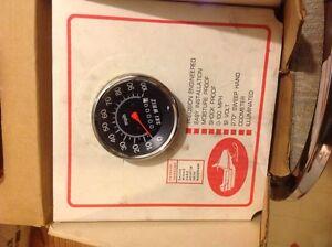 Vintage snowmobile speedometer