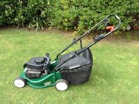 Petrol self propelled lawnmower