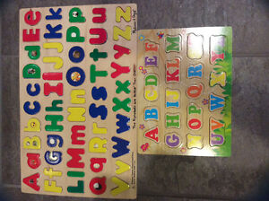 Two Wooden Alphabet Puzzles