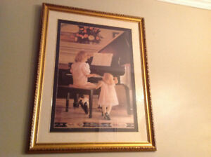 Print of little girl playing piano