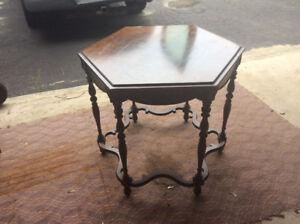 New price,Antique hexagonal Kiel furniture 1907+ table 75.00.