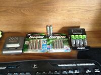 Energizer NiMH 8AA & 6 AAA two chargers for sale