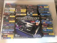 Sega Megadrive with 54 boxed games