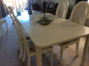 Dining  Table with 4 chairs and Buffet Hutch IKEA