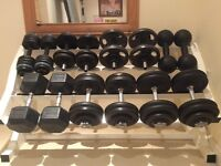 Weights - Dumbbells and weight rack