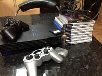 PS2 with 2 controllers (one wireless), memory card, 9 excellent games and all leads.