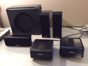 Home theatre system with two wireless speakers