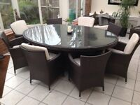 Large Conservatory Dining Table &Chairs
