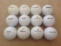 12 WILSON GOLF BALLS