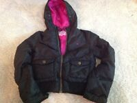 Randy Girl winter coat - girl's size 14/16 black with pink