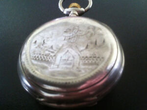 France - War 1870 - Pocket watch - Engraved - Silver .900