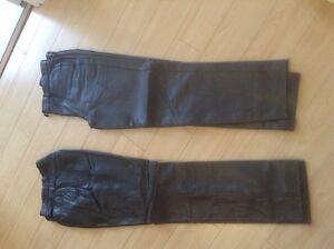 veste de cuir pantalon chaps  pour moto