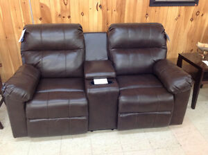 Brand New Reclining Loveseat with Center Console. TAXES IN.