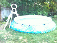 above ground 14'x4' pool with full size PCV ladder; pump. etc
