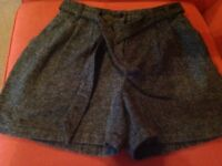 Grey marl ladies shorts