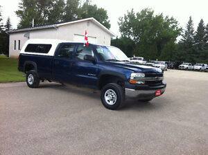 2002 CHEV HD 2500 CREW CAB 8' BOX 2 Wheel Drive SALE PRICE