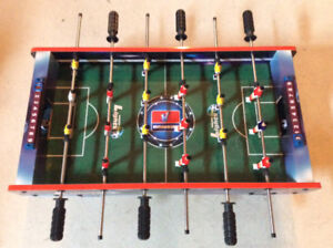 Miniature Foosball game to sit on table
