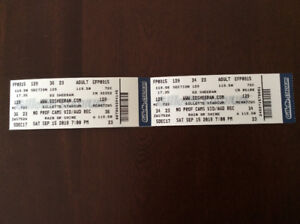 2 tickets to Ed Sheeran in Boston Sept 15