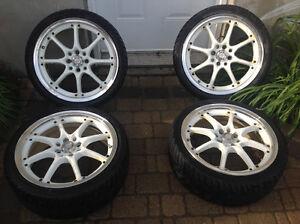 RTX 17 rim 4x100/114 tire 205/40/r17