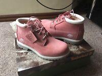 Timberlands ladies pink nubuck boots