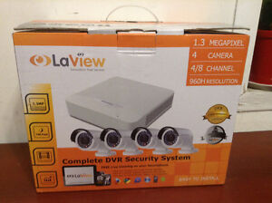 LaView 4 Camera 960H Security System, 4 Channel 960H Compact DVA