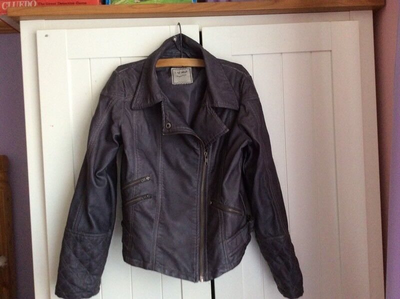 Girls Leather Look Jacket Age 9-10 Years