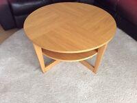 Ikea vejmon round oak veneer coffee table