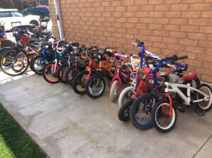 GREAT SELECTION OF GENTLY USED KIDS BIKES