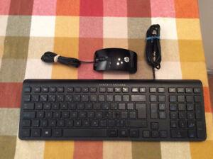 clavier français et souris la marque HP