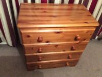 2 MATCHING SOLID PINE DRAWER CHESTS
