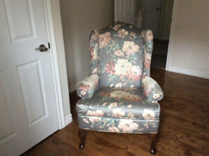 Wing Back Chair for sale with ottoman