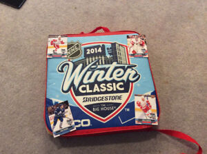 2014 Winter Classic Seat Cushion + limited edition hockey cards