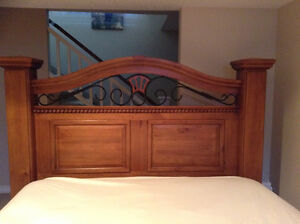 Gorgeous solid wood bed frame 2 matching dressers, 2 side tables London Ontario image 6