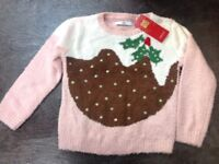 NEW Christmas Jumper age 5-6 years M&S