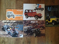 Vintage Jeep and Toyota Pamplets