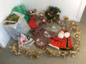Variety of Christmas decorations