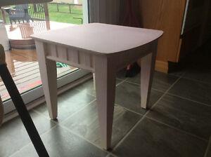 Solid large end table