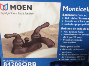 Moen oil rubbed bronze faucet- NEW