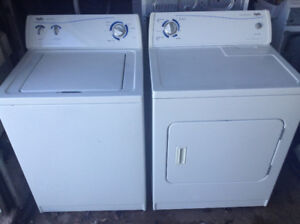 Top load washer and dryer with warranty