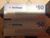 Air Canada duty free vouchers