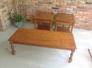 Coffee table and  two end tables . Make a offer