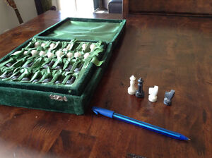 Afganistan Chess Marble Set W/hand Carved Pieces Kingston Kingston Area image 4