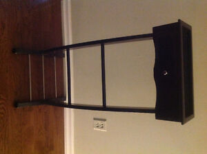 dark brown organizer with pull out drawer