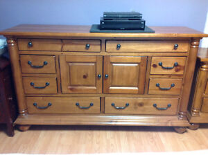 Great deal. Solid pine dresser and night table St. John's Newfoundland image 2