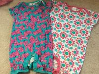 Two girls rompers age 9-12months